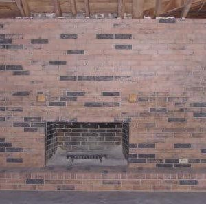 Fireplace after soda blast